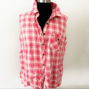 ❤️Upcycled❤️Etsy Cotton Button down Shirt❤️muscle